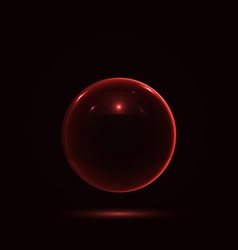 Abstract Design with Glass Sphere vector image
