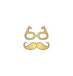 Mustache and glasses computer symbol vector