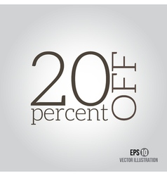 20 sale price off icon with 20 percent discount vector