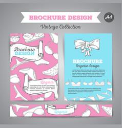 Lingerie brochure underwear background vector