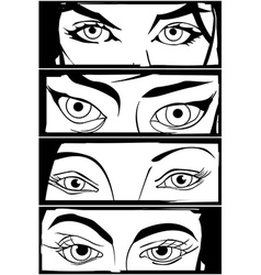 Comic eyes vector