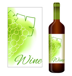 Labels for white wine vector