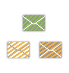 Icons envelopes vector