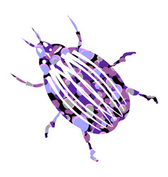 Bug icon on white vector