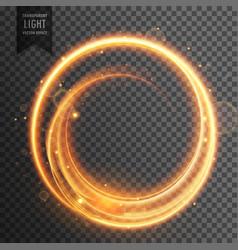 Circular golden light transparent lens flare vector