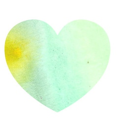Watercolor heart on white background vector