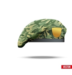 Military camouflage beret special forces vector