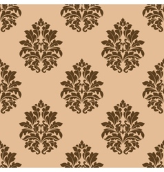 Retro dark beige or brown seamless pattern vector