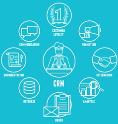 Concept of customer relationship management vector