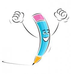 winning pencil vector image