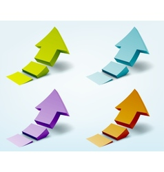 3d arrows logo design vector image vector image