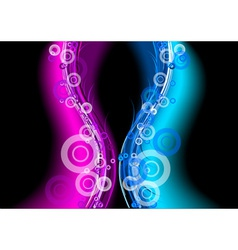 blue and purple neon lights vector image