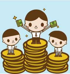 Salary variation business concept cartoon vector