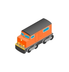 Train locomotive isometric 3d icon vector