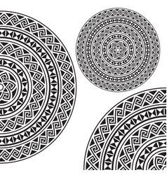 Monochromatic ethnic textures vector