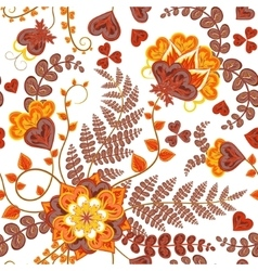 Fantasy flowers seamless hand drawing pattern vector
