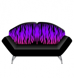 Funky couch vector