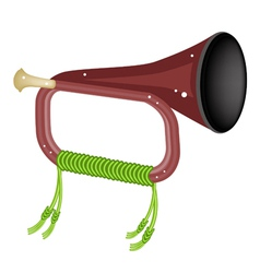A musical bugle isolated on white background vector