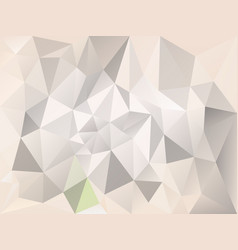 abstract irregular polygon background gray beige vector image