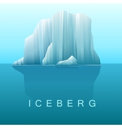 Background of icebergs and sea vector