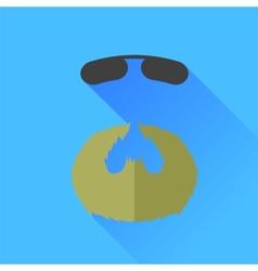 Beard and sunglasses vector