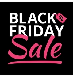 Black Friday poster glowing light letter on black vector image vector image