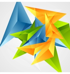 Bright triangle shapes background vector image vector image