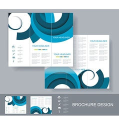 Brochure template design with blue elements vector