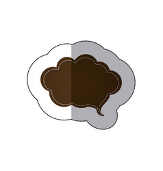 brown cloud chat bubble icon vector image