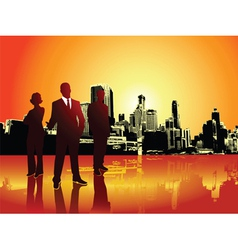 Corporate urban background vector image vector image