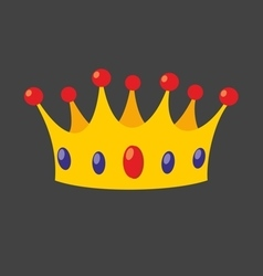Crown isolated on black background vector