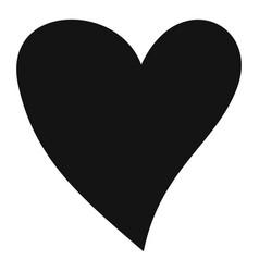 Cruel heart icon simple style vector