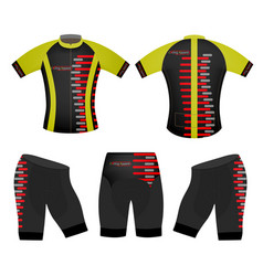Cycling apparel sports t-shirt vector