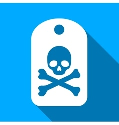 Death Sticker Flat Long Shadow Square Icon vector image vector image
