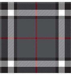 Gray fabric texture check seamless vector image vector image