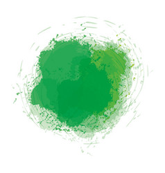 Green watercolor art paint vector