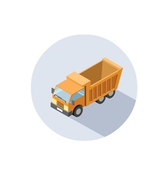 isometric of Truck vector image vector image