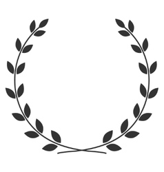 Laurel wreath symbol vector