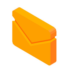 Letter mail 3d icon isolated vector