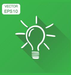 light bulb icon business concept hand drawn idea vector image
