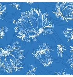 Lily Sketch Pattern vector image