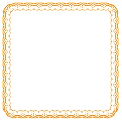 Orange frame on white background vector