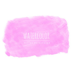 Pink watercolor texture background vector
