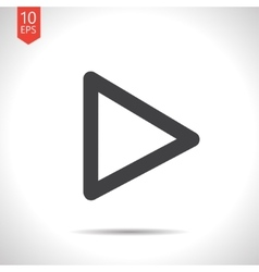 play pointer icon Eps10 vector image vector image