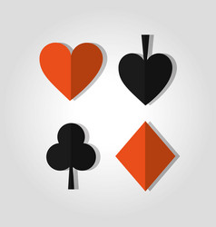 Poker card suits heart club spade and diamond vector
