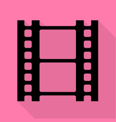 reel of film sign black icon with flat style vector image vector image