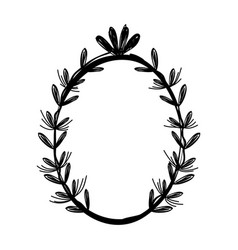 rustic branches plant design vector image vector image