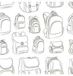 School backpacks set pattern vector image