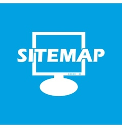 Sitemap white icon vector
