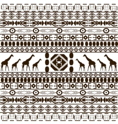 traditional African pattern vector image